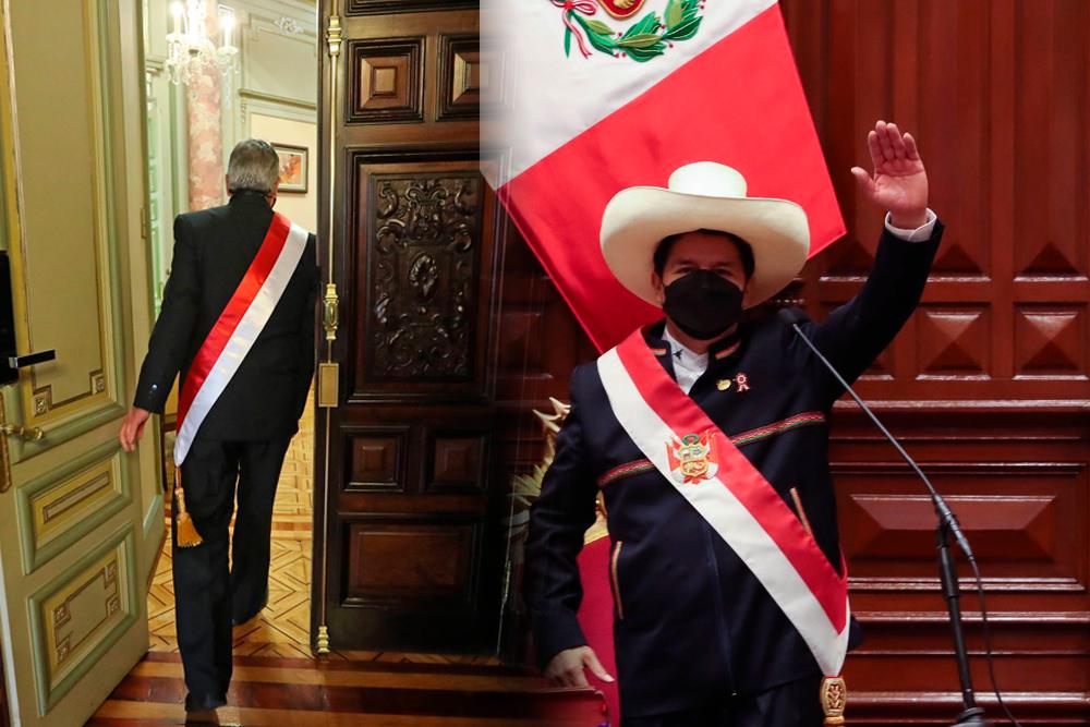 Pedro Castillo juramentacion Francisco Sagasti