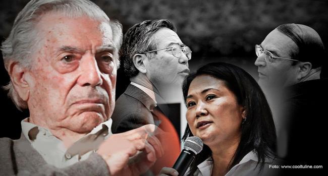 Vargas Llosa y Fujimori