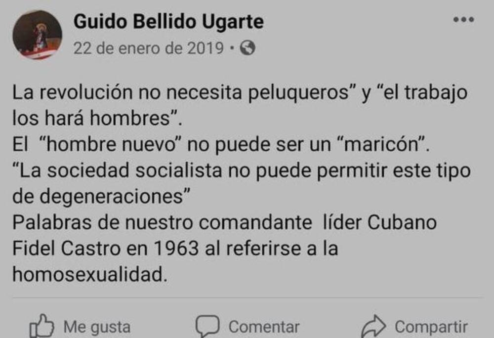 Guido Bellido, premier de Pedro Castillo.