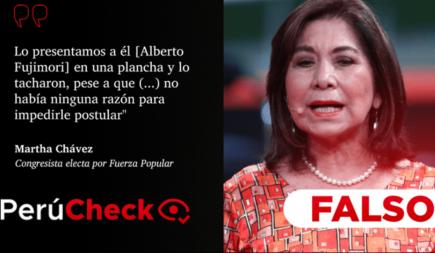 [FALSO] Martha Chávez: No hubo razón para tachar a Alberto Fujimori en 2006