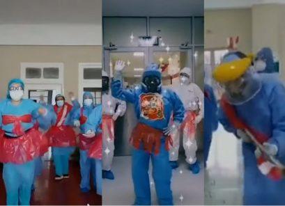 Arequipa: médicos del hospital Covid saludaron al Perú (VIDEO)