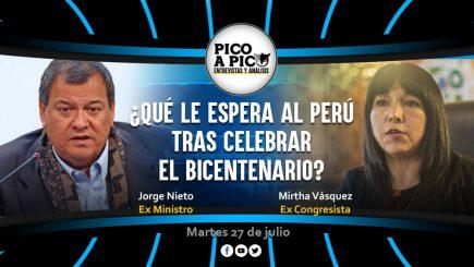 Pico a Pico: Entrevista con Mirtha Vásquez y Jorge Nieto