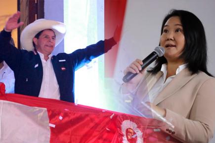 Así reaccionaron Pedro Castillo y Keiko Fujimori tras proclamación (VIDEO)