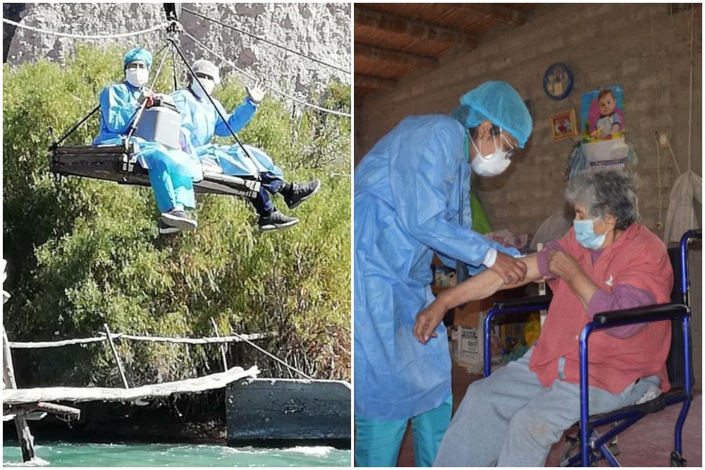 Arequipa: la travesía del personal de salud para vacunar a los más vulnerables