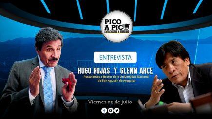Pico a Pico: entrevista a Hugo Rojas y Glenn Arce, candidatos a rector de la UNSA