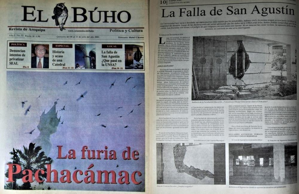 #Hace20Años El terremoto del 2001 en Arequipa: ¿Qué pasó en la UNSA?.
