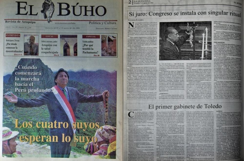 #Hace20Años Sí juro: Congreso se instala con singular ritual.