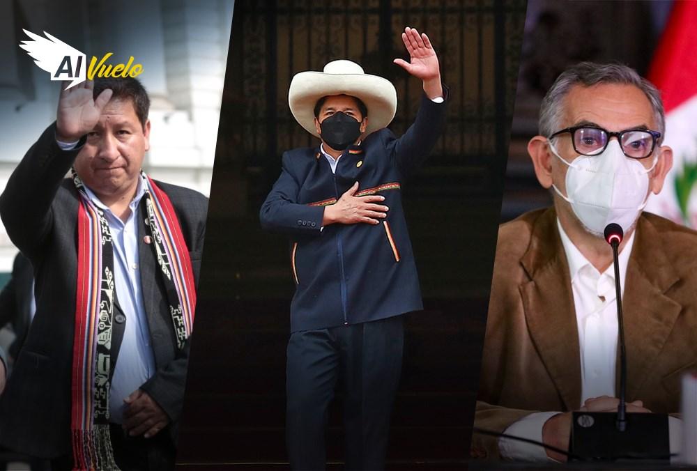 Pedro Castillo  y premier agradecen al Congreso   |  Al Vuelo