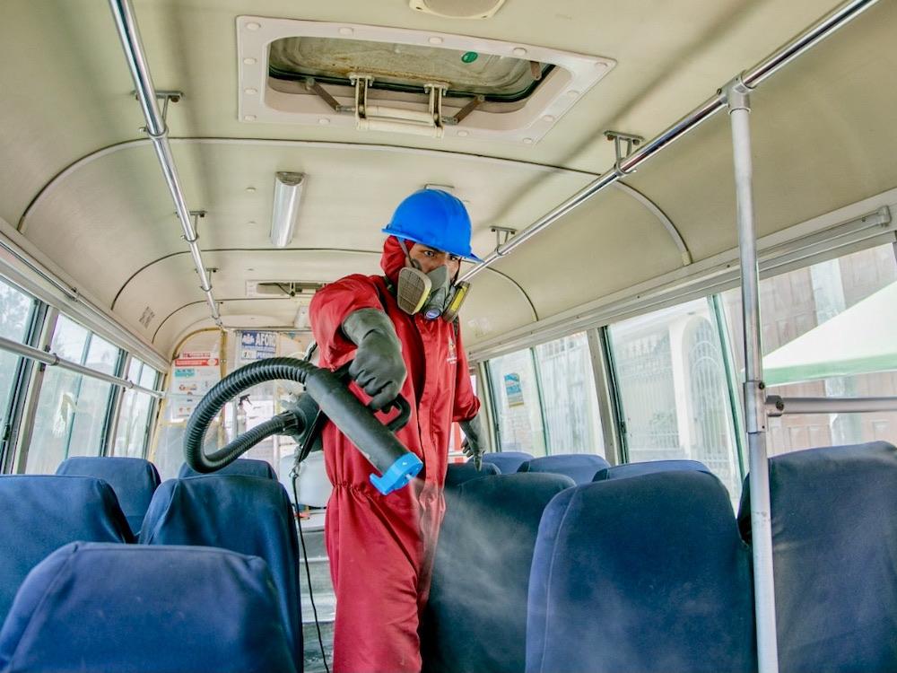 arequipa desinfección de buses del sit