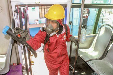 Arequipa: desinfección de buses del SIT está asegurada solo hasta septiembre