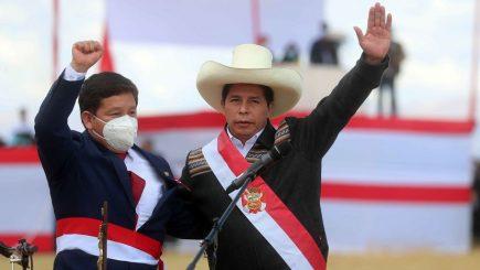 """Presidente Castillo: """"No está pensado hacer cambios en el Gabinete Bellido"""""""