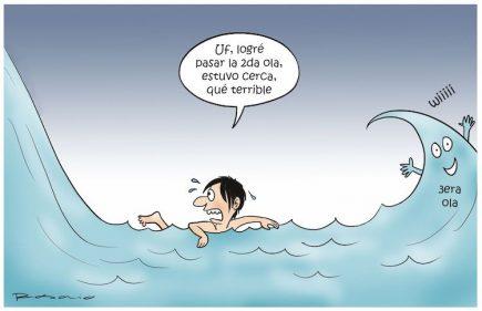 Humor: sobre las olas