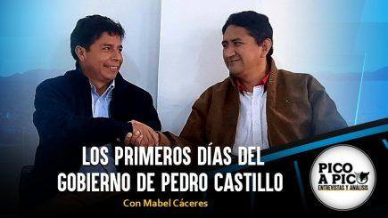 Pico a Pico: Los primeros días del gobierno de Pedro Castillo