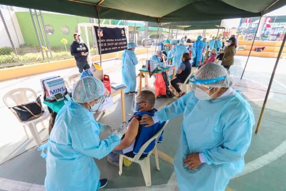 Arequipa vacunó al 34.5% de su población objetivo