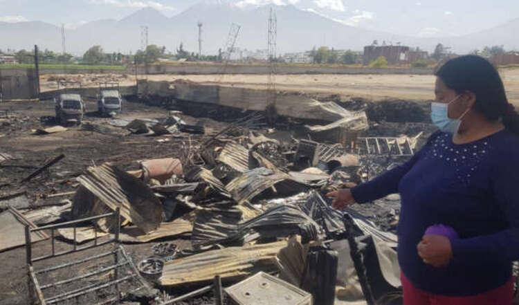Incendio en Arequipa