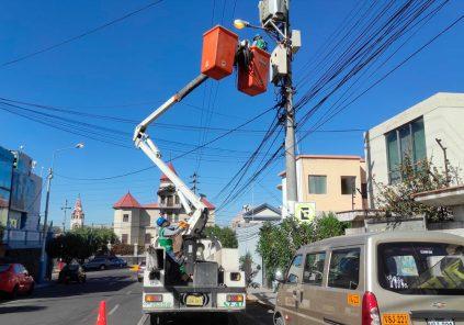Arequipa: corte de luz en zonas de dos distritos este sábado 25