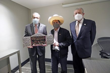 Presidente Castillo y Carlos Slim acuerdan implementar programas de conectividad digital
