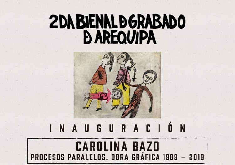 Inauguran 2da Bienal de Grabado de Arequipa con muestra de artista Carolina Bazo