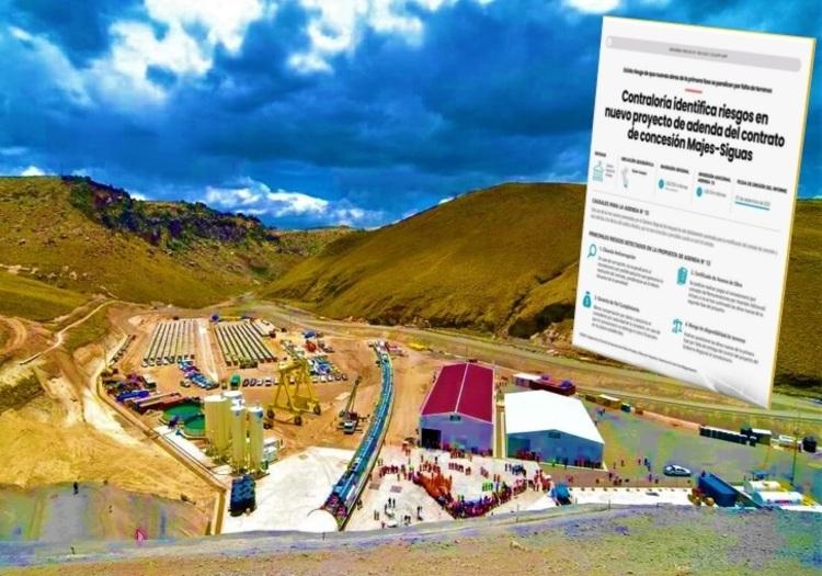 Arequipa: Contraloría detecta 4 riesgos en Adenda 13 para ejecutar Majes - Siguas II.