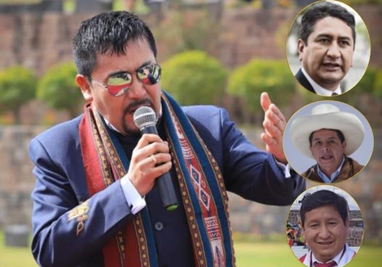 """Gobernador regional de Arequipa, Elmer Cáceres Llica: """"Aquí hay tres presidentes, el señor Pedro Castillo, Vladimir Cerrón y Guido Bellido"""""""