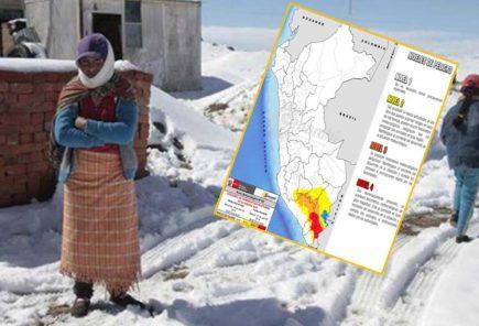 Senamhi: Alerta máxima por intenso frío en Arequipa, Moquegua y Tacna