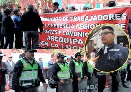 Enfrentamiento entre trabajadores y gerente de Transportes paraliza trámites