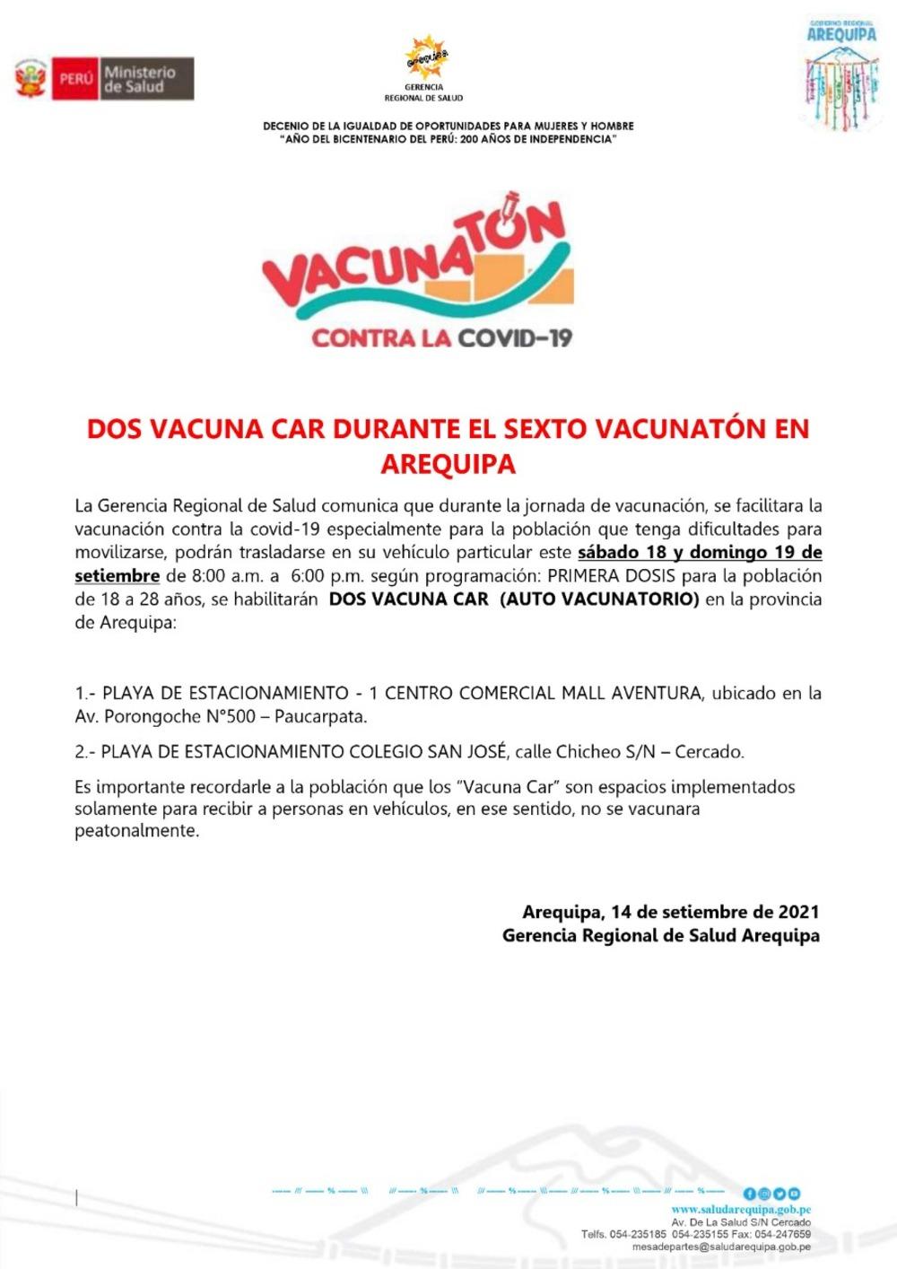 Vacunacar