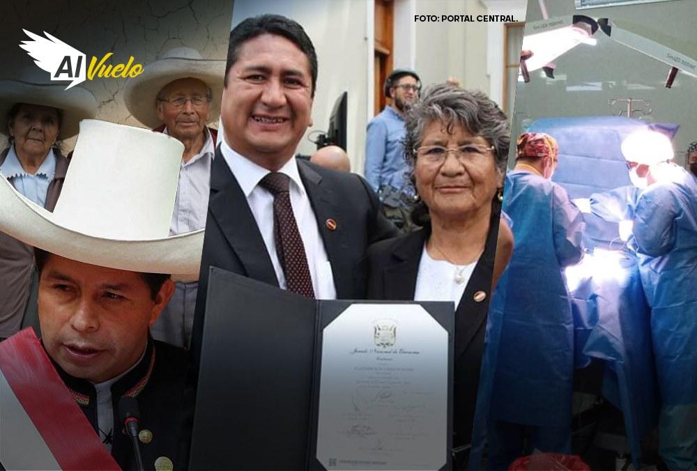 Vladimir Cerrón agradece solidaridad por su madre  |  Al Vuelo