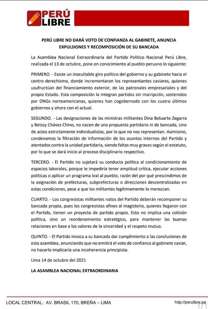 """Pedro Castillo a Cerrón: """"Con un tuit, piensan que se cambia el país"""" (VIDEO)"""