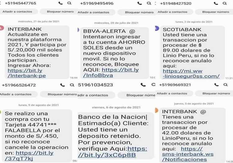 Perú: conoce cómo detectar el smishing, estafas cibernéticas por mensaje de texto