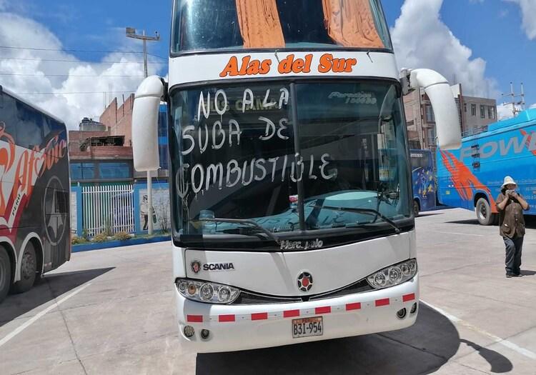 Paro de transportistas en Arequipa
